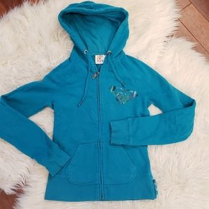🆕️3/$30❣Roxy Turquoise Zip-Up Hoody